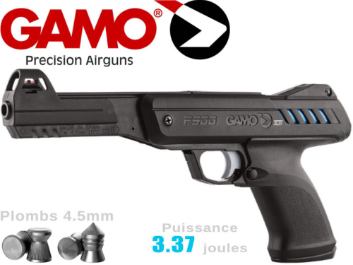 Pistolet plombs air comprimé 4.5mm Gamo P-900 IGT 3.37j