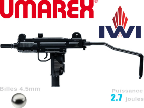 Airgun Umarex IWI Mini-Uzi 4.5mm Co2 2.7j