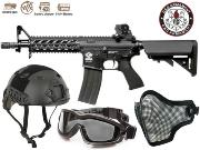 Full Package Airsoft CM16 Raider Black court