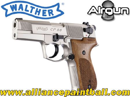 Walther CP 88 Nickel crosse bois