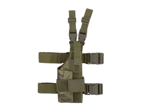 Holster de cuisse tactical Modulaire - Woodland droitier