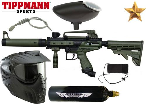Pack Tippmann Cronus Tactical black/olive Co2