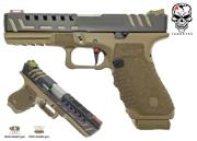 Réplique airsoft S17 ACP Scorpion Tan GBB Dual power Co2/Gaz