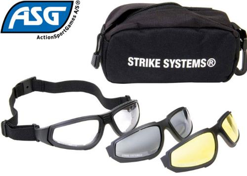 Protection airsoft  Lunettes combat kit 3 couleurs