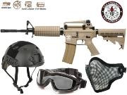 Full Package Airsoft C16 Carabine tan
