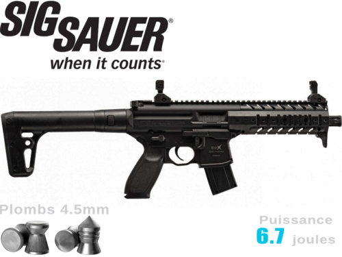 Carabine à plombs Sig Sauer MPX 4.5mm Co2 6.7j