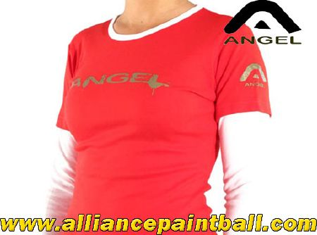 Angel Tee-shirt girl red white taille M/L