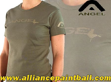 Angel Tee-shirt girl Skinny olive white taille S