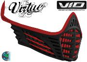 Facemask Virtue Vio - red / red / black